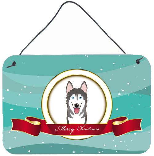 Buy this Alaskan Malamute Merry Christmas Wall or Door Hanging Prints BB1528DS812