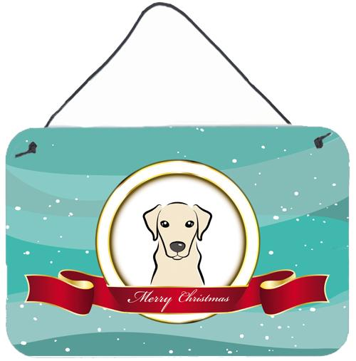Buy this Yellow Labrador Merry Christmas Wall or Door Hanging Prints BB1532DS812