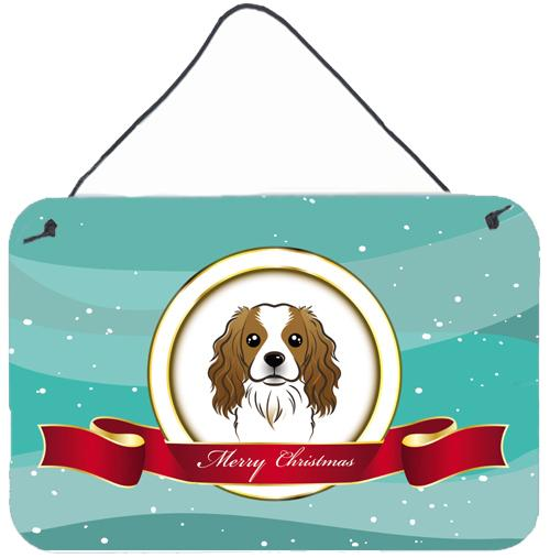 Buy this Cavalier Spaniel Merry Christmas Wall or Door Hanging Prints BB1534DS812