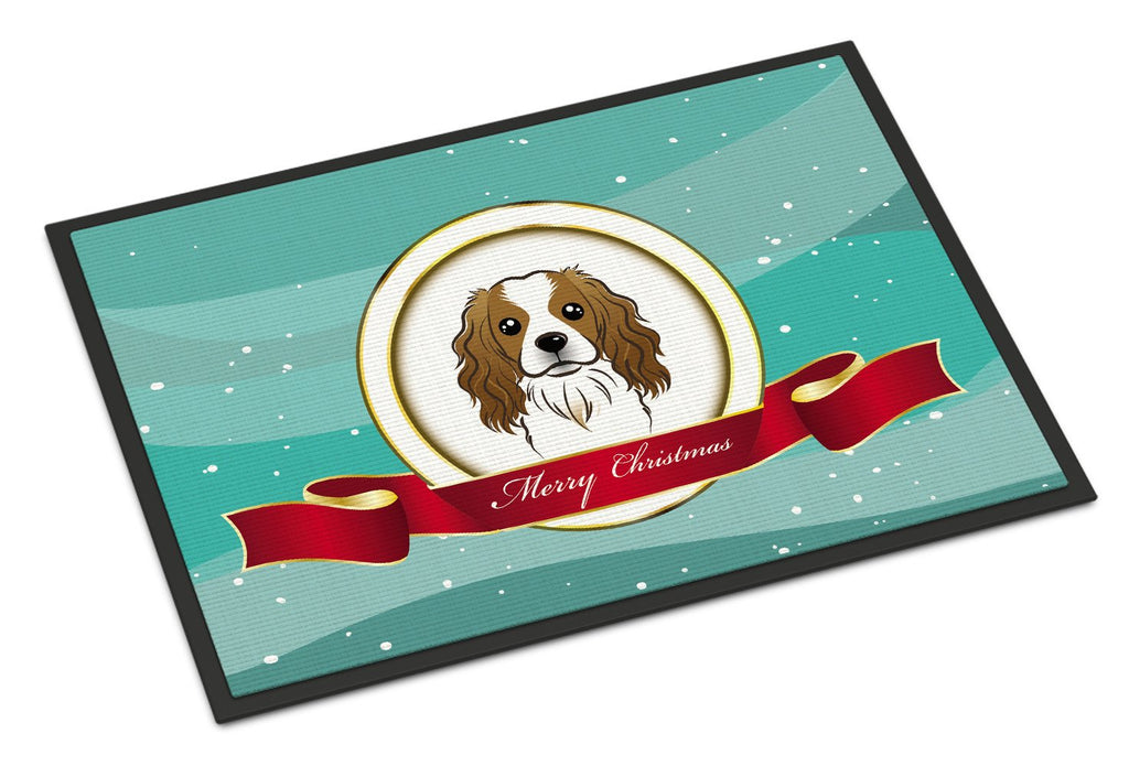 Buy this Cavalier Spaniel Merry Christmas Indoor or Outdoor Mat 18x27 BB1534MAT
