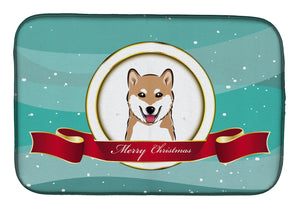Buy this Shiba Inu Merry Christmas Dish Drying Mat BB1535DDM