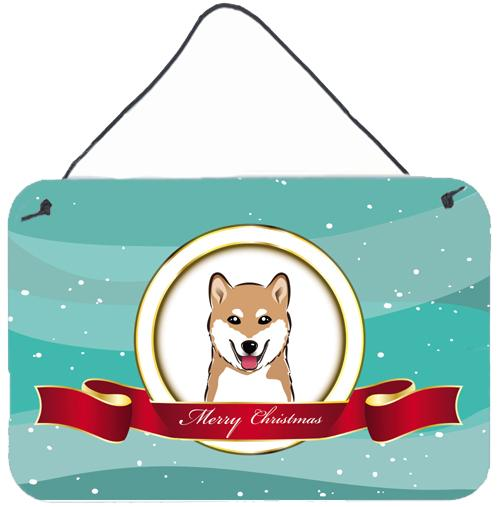 Shiba Inu Merry Christmas Wall or Door Hanging Prints BB1535DS812 by Caroline's Treasures