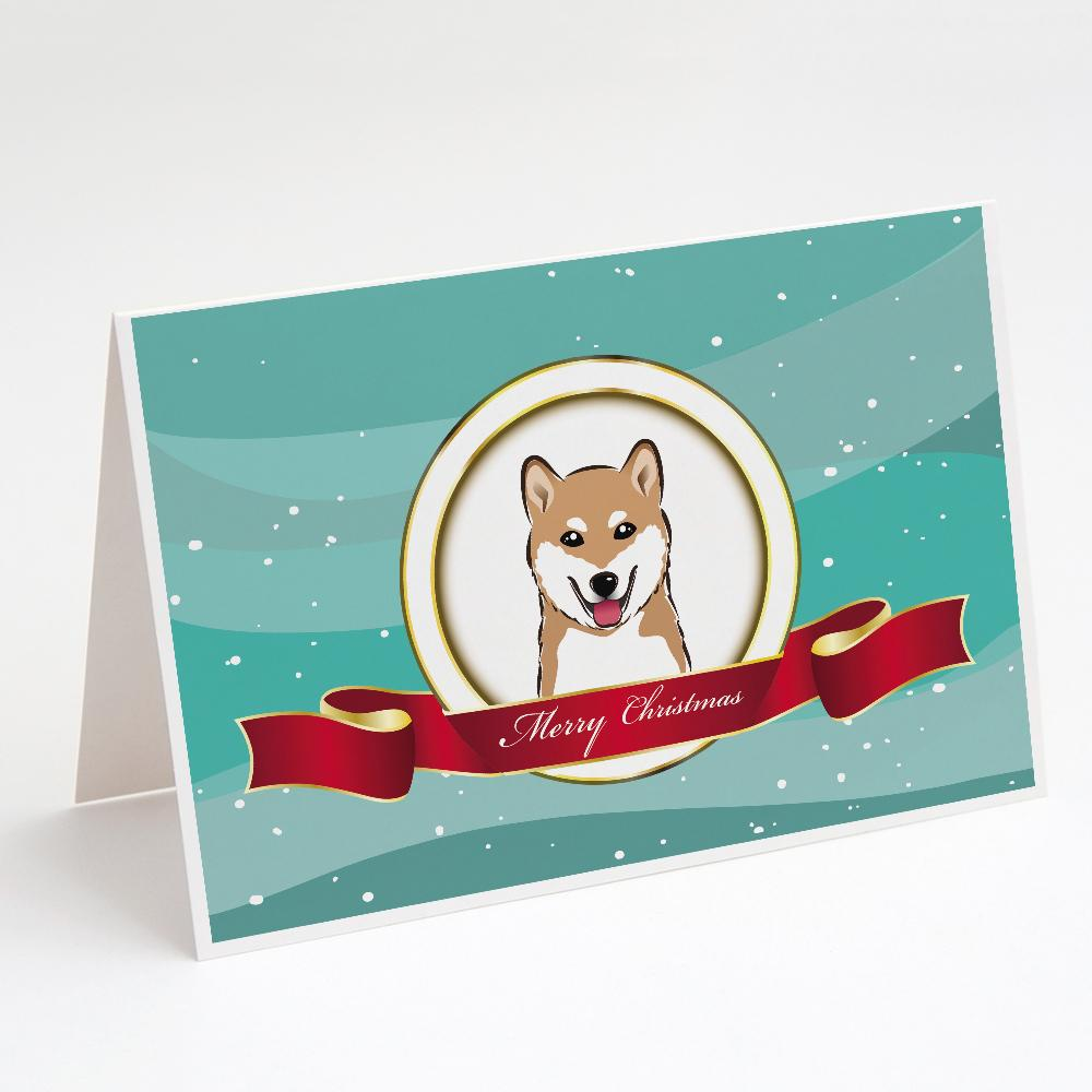 Buy this Shiba Inu Merry Christmas Greeting Cards and Envelopes Pack of 8