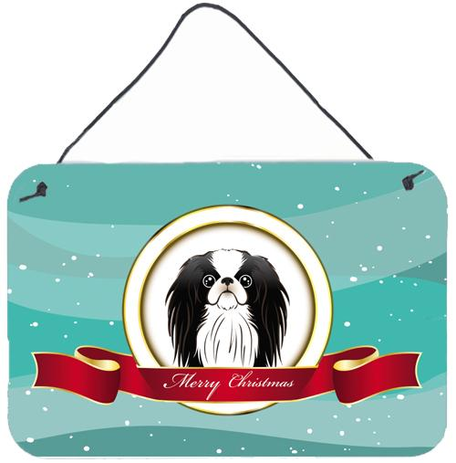 Japanese Chin Merry Christmas Wall or Door Hanging Prints BB1540DS812 by Caroline's Treasures