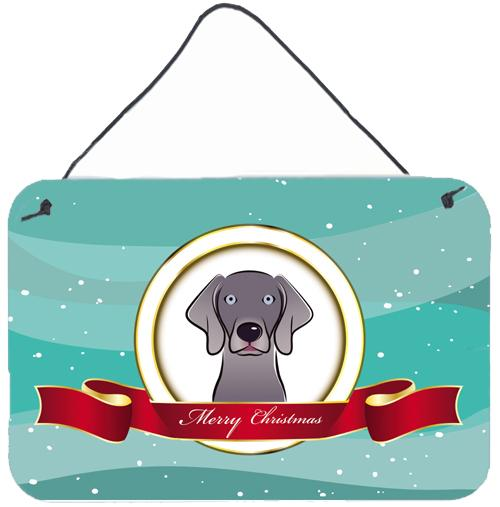 Buy this Weimaraner Merry Christmas Wall or Door Hanging Prints BB1541DS812