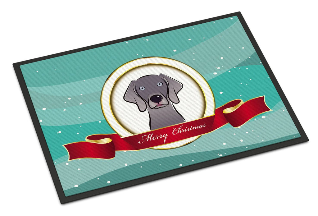 Buy this Weimaraner Merry Christmas Indoor or Outdoor Mat 18x27 BB1541MAT