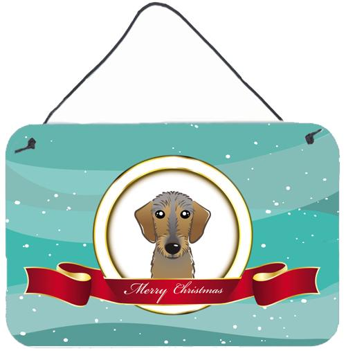 Buy this Wirehaired Dachshund Merry Christmas Wall or Door Hanging Prints BB1543DS812