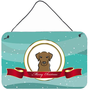 Buy this Chocolate Labrador Merry Christmas Wall or Door Hanging Prints BB1544DS812