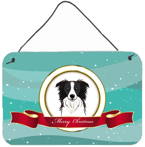 Buy this Border Collie Merry Christmas Wall or Door Hanging Prints BB1551DS812