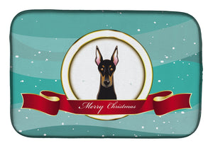 Buy this Doberman Merry Christmas Dish Drying Mat BB1555DDM