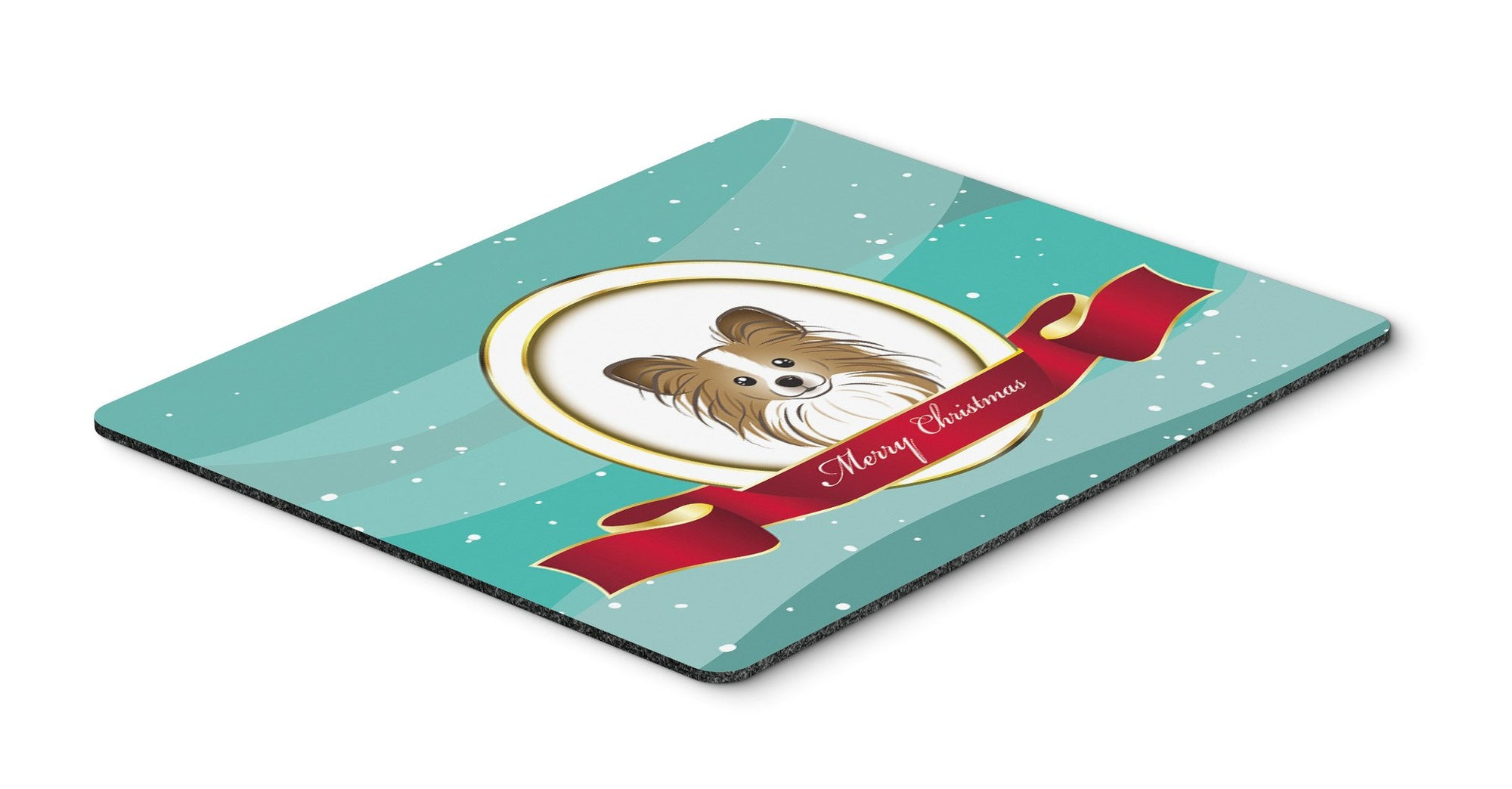 Papillon Merry Christmas Mouse Pad, Hot Pad or Trivet BB1558MP by Caroline's Treasures