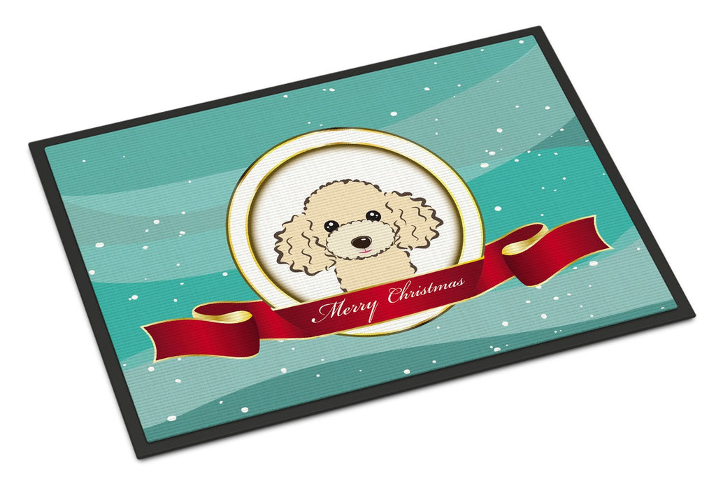 Buy this Buff Poodle Merry Christmas Indoor or Outdoor Mat 18x27 BB1568MAT