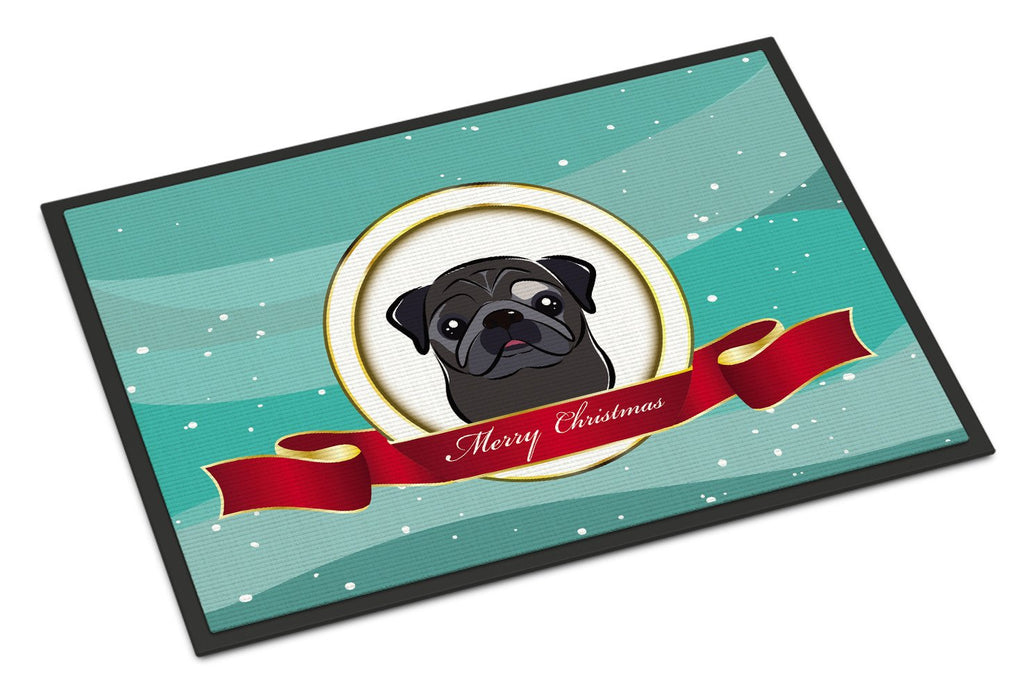 Buy this Black Pug Merry Christmas Indoor or Outdoor Mat 18x27 BB1573MAT