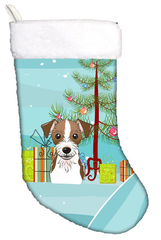 Buy this Christmas Tree and Jack Russell Terrier Christmas Stocking BB1574CS