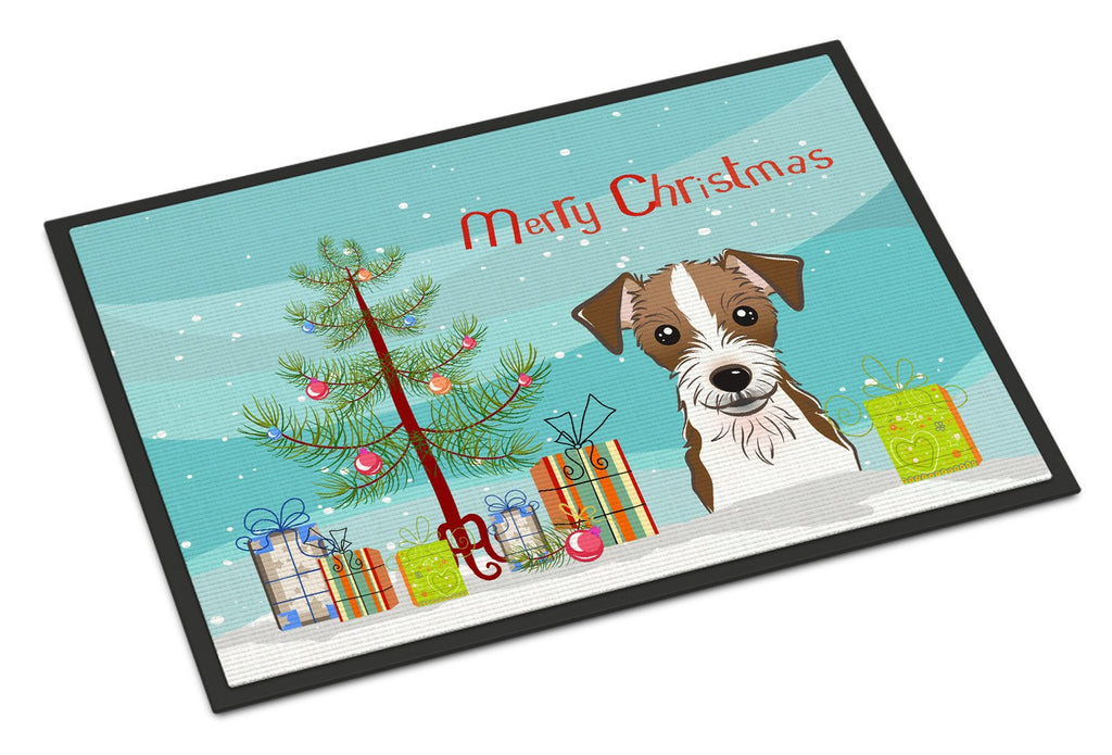 Buy this Christmas Tree and Jack Russell Terrier Indoor or Outdoor Mat 18x27 BB1574MAT