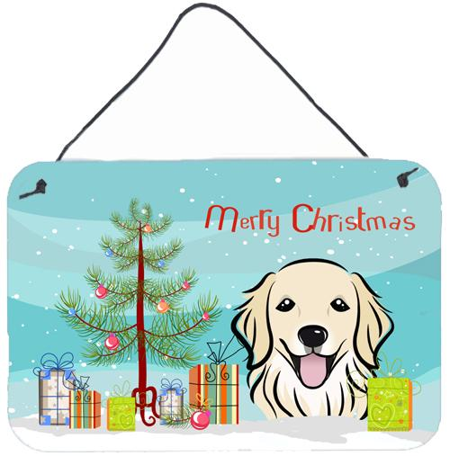 Buy this Christmas Tree and Golden Retriever Wall or Door Hanging Prints BB1577DS812