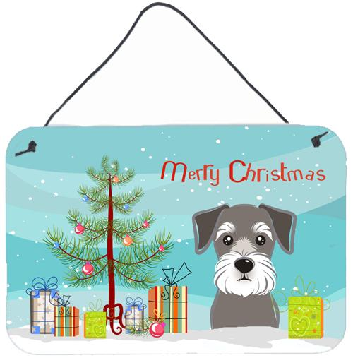 Buy this Christmas Tree and Schnauzer Wall or Door Hanging Prints BB1578DS812