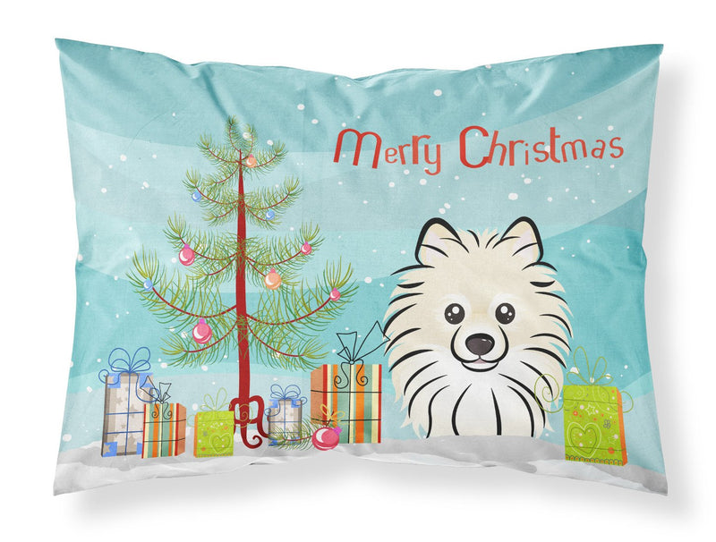 Buy this Christmas Tree and Pomeranian Fabric Standard Pillowcase BB1579PILLOWCASE