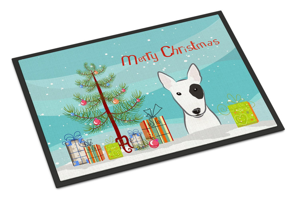Buy this Christmas Tree and Bull Terrier Indoor or Outdoor Mat 18x27 BB1581MAT