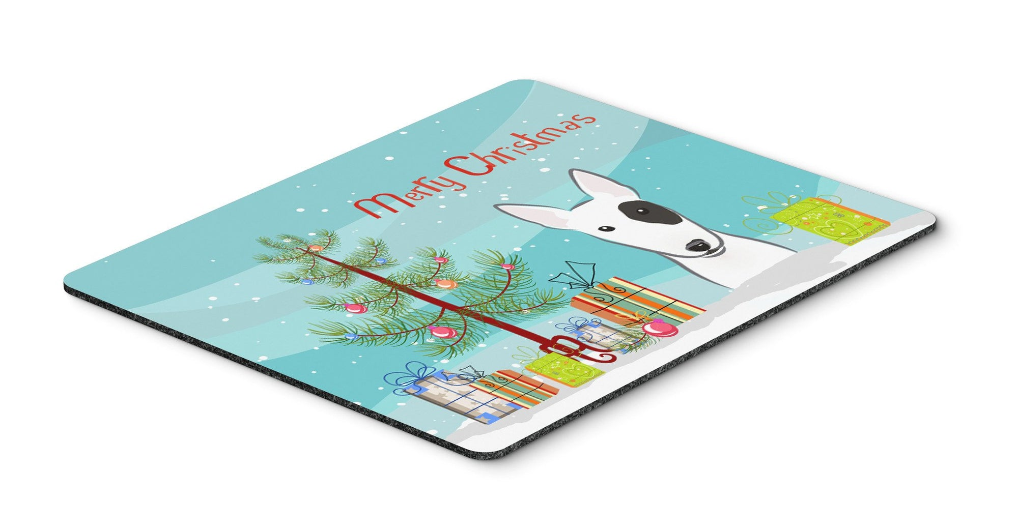 Christmas Tree and Bull Terrier Mouse Pad, Hot Pad or Trivet BB1581MP - the-store.com