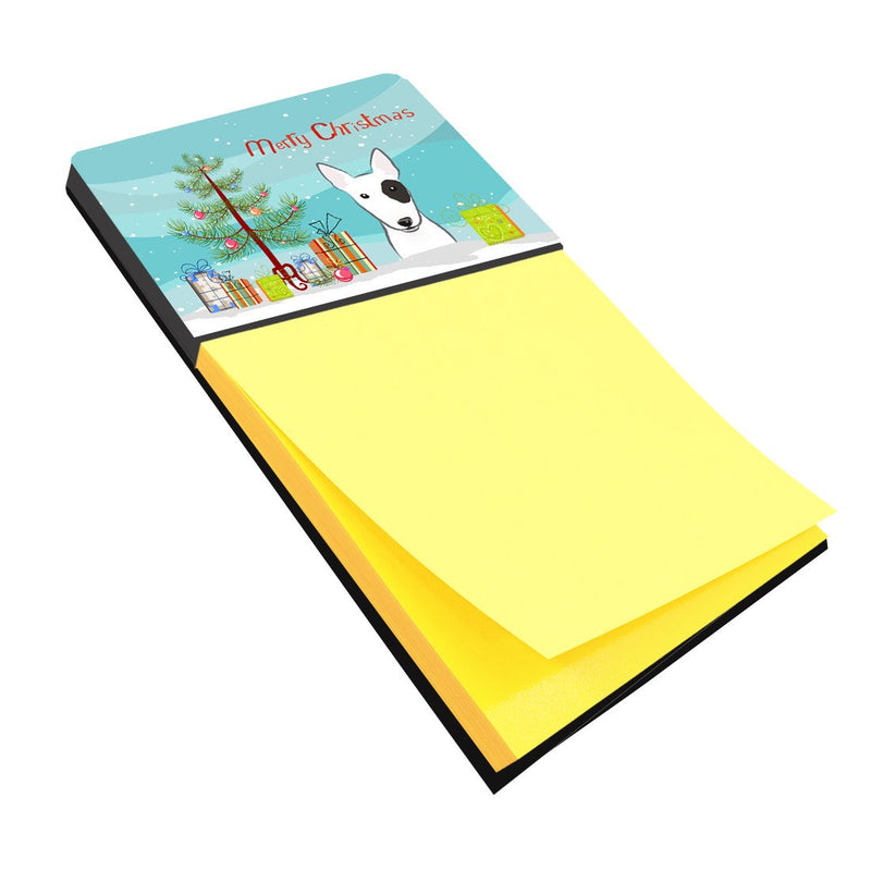 Christmas Tree and Bull Terrier Sticky Note Holder BB1581SN - the-store.com