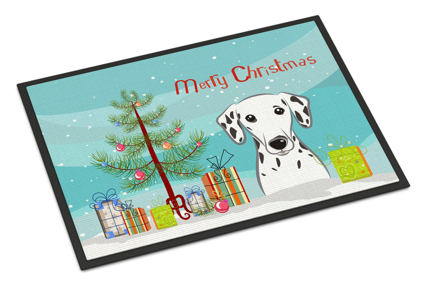 Christmas Tree and Dalmatian Indoor or Outdoor Mat 18x27 BB1582MAT by Caroline's Treasures