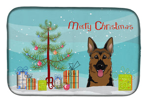 Buy this Christmas Tree and German Shepherd Dish Drying Mat BB1583DDM