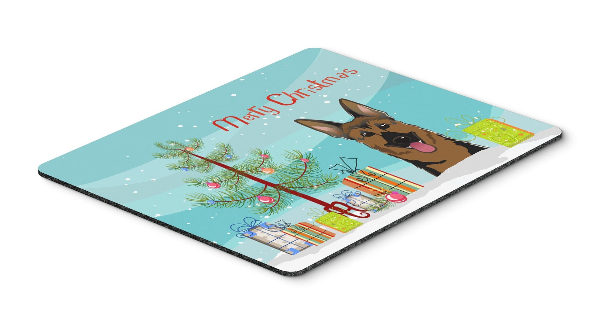 Christmas Tree and German Shepherd Mouse Pad, Hot Pad or Trivet BB1583MP by Caroline's Treasures