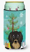 Christmas Tree and Longhair Black and Tan Dachshund Tall Boy Beverage Insulator Hugger BB1585TBC by Caroline's Treasures