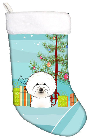 Buy this Christmas Tree and Bichon Frise Christmas Stocking BB1589CS