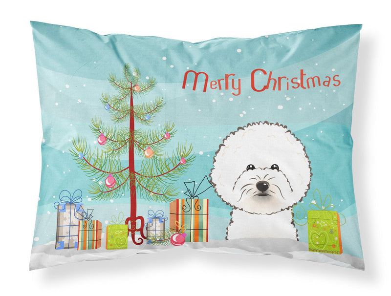 Buy this Christmas Tree and Bichon Frise Fabric Standard Pillowcase BB1589PILLOWCASE