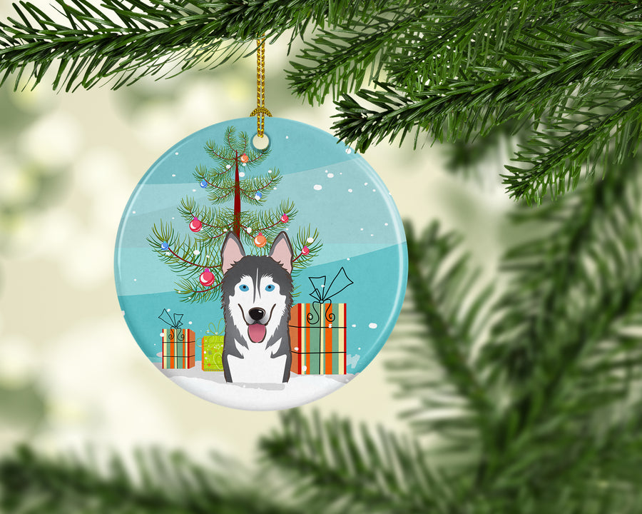 Buy this Christmas Tree and Alaskan Malamute Ceramic Ornament BB1590CO1