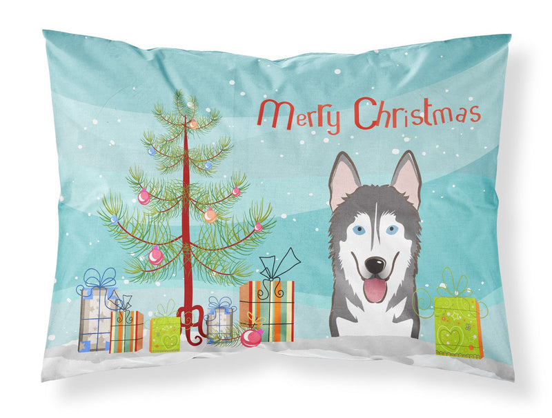 Buy this Christmas Tree and Alaskan Malamute Fabric Standard Pillowcase BB1590PILLOWCASE