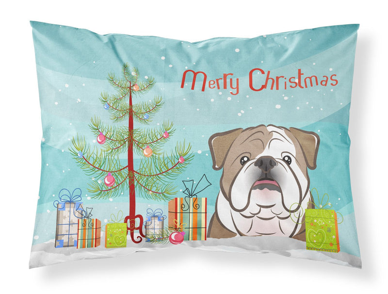 Buy this Christmas Tree and English Bulldog  Fabric Standard Pillowcase BB1591PILLOWCASE