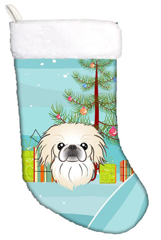 Buy this Christmas Tree and Pekingese Christmas Stocking BB1593CS