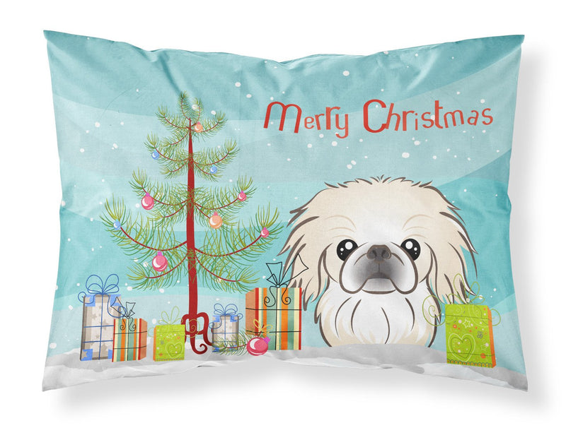 Buy this Christmas Tree and Pekingese Fabric Standard Pillowcase BB1593PILLOWCASE
