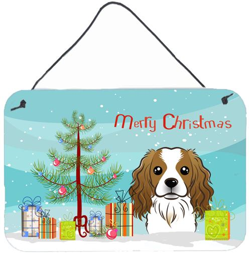 Buy this Christmas Tree and Cavalier Spaniel Wall or Door Hanging Prints BB1596DS812
