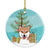 Buy this Christmas Tree and Shiba Inu Ceramic Ornament BB1597CO1