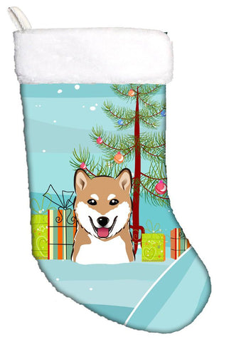 Buy this Christmas Tree and Shiba Inu Christmas Stocking BB1597CS