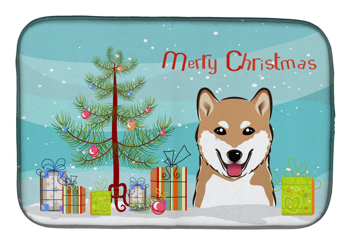 Buy this Christmas Tree and Shiba Inu Dish Drying Mat BB1597DDM