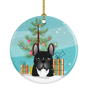 Buy this Christmas Tree and French Bulldog Ceramic Ornament BB1599CO1