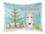 Buy this Christmas Tree and Borzoi Fabric Standard Pillowcase BB1600PILLOWCASE