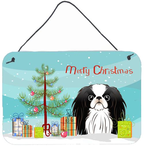 Christmas Tree and Japanese Chin Wall or Door Hanging Prints BB1602DS812 by Caroline's Treasures
