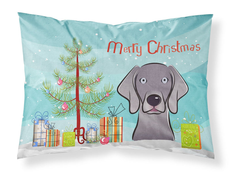Buy this Christmas Tree and Weimaraner Fabric Standard Pillowcase BB1603PILLOWCASE