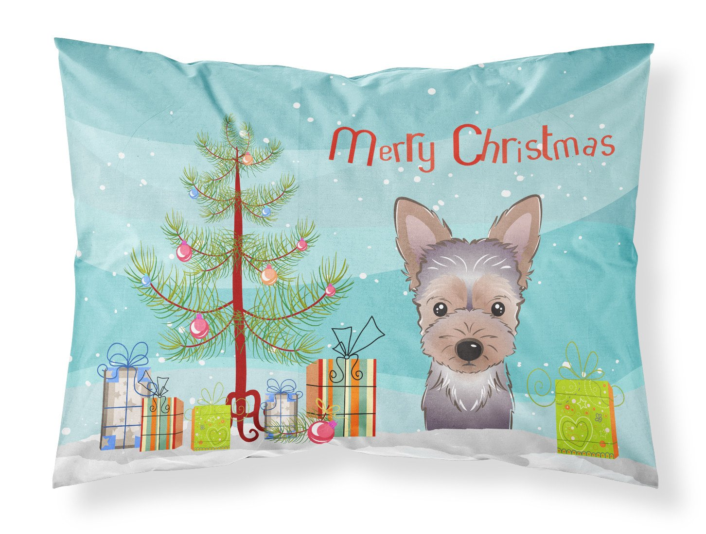 Buy this Christmas Tree and Yorkie Puppy Fabric Standard Pillowcase BB1604PILLOWCASE
