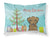 Buy this Christmas Tree and Chocolate Labrador Fabric Standard Pillowcase BB1606PILLOWCASE