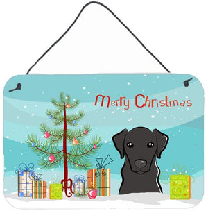 Buy this Christmas Tree and Black Labrador Wall or Door Hanging Prints BB1607DS812