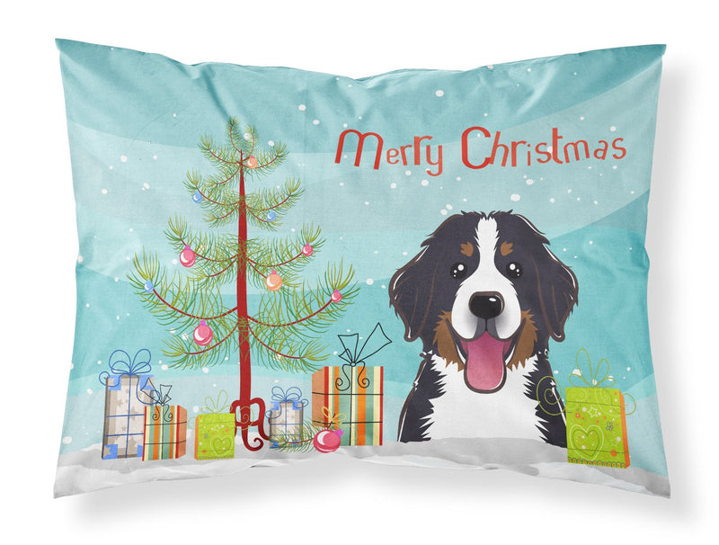Buy this Christmas Tree and Bernese Mountain Dog Fabric Standard Pillowcase BB1609PILLOWCASE
