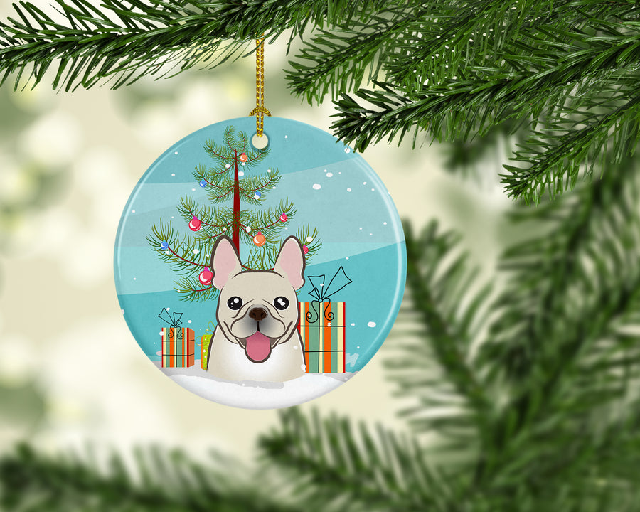 Buy this Christmas Tree and French Bulldog Ceramic Ornament BB1610CO1