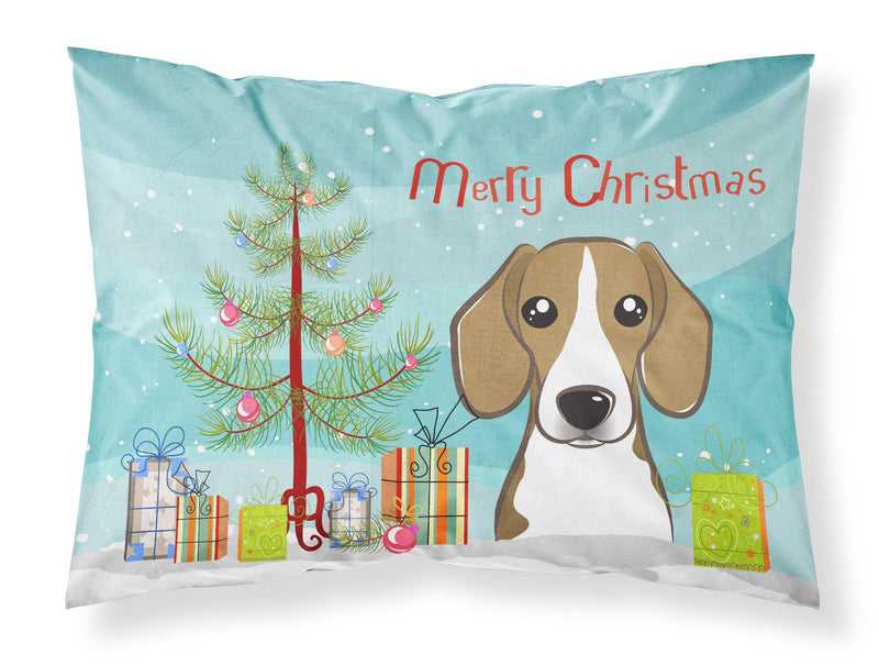 Buy this Christmas Tree and Beagle Fabric Standard Pillowcase BB1611PILLOWCASE